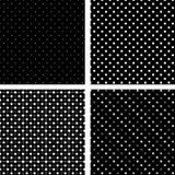 белизна черных pois картины безшовная Стоковые Фотографии RF