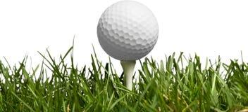 белизна шарика предпосылки изолированная гольфом Спорт и стоковые изображения rf