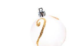 белизна шариков изолированная рождеством Стоковая Фотография RF
