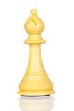белизна шахмат епископа Стоковое Фото