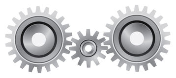 белизна шестерни предпосылки установленная Стоковые Изображения RF