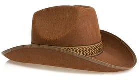 белизна шлема ковбоя изолированная Стоковая Фотография