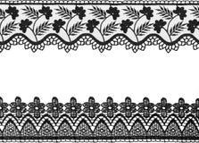 белизна шнурка предпосылки изолированная чернотой Стоковые Фото