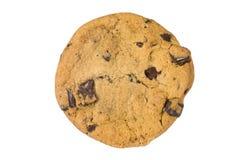 белизна шоколада обломока изолированная печеньем Стоковые Фото