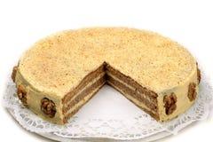 белизна шоколада торта Стоковая Фотография RF
