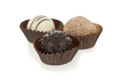 белизна шоколада bonbons изолированная лакомкой Стоковая Фотография