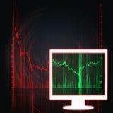 белизна штока монитора рынка диаграммы Стоковые Изображения