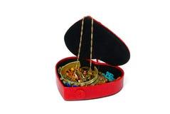 белизна ювелирных изделий подарка коробки предпосылки Стоковое фото RF