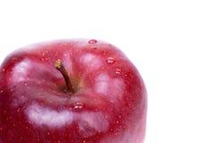 белизна яблока одного красная Стоковое Фото