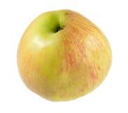 белизна яблока свежей изолированная половиной сморщила Стоковая Фотография