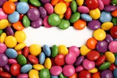 белизна ярлыка пустых конфет цветастая Стоковая Фотография