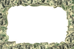 белизна 100 долларов изолированная рамкой Стоковое Изображение