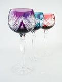 белизна backgroumd цветастая стеклянная высокорослая Стоковая Фотография RF