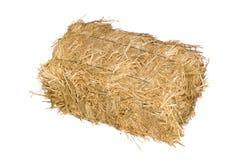 белизна bale изолированная сеном стоковое фото