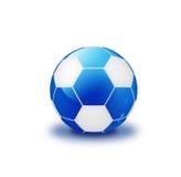 белизна bule шарика глянцеватая Стоковые Фото