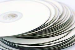 белизна cds printable стоковая фотография