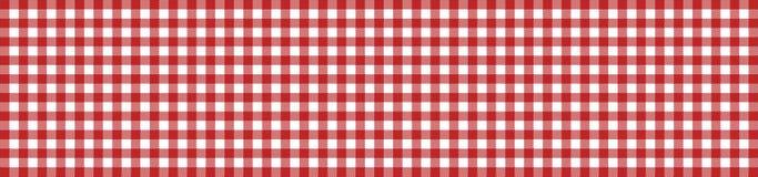 Белизна Checkered знамени скатерти красная иллюстрация вектора