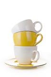 белизна coffe предпосылки изолированная чашкой стоковые фото