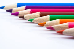 белизна crayon предпосылки Стоковые Фотографии RF