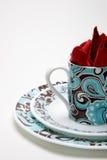 белизна dinnerware Стоковые Изображения