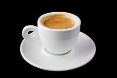 белизна espresso кофейной чашки Стоковые Изображения