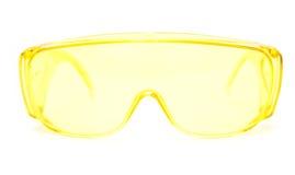 белизна eyeglasses предпосылки защитная Стоковая Фотография