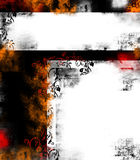 белизна grunge предпосылки черная Стоковая Фотография