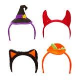 белизна halloween costume полос изолированная головкой Стоковое фото RF