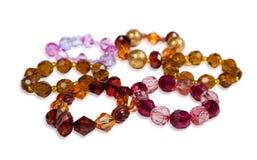 белизна jewellery браслетов предпосылки Стоковое Фото