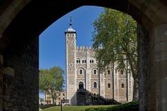 белизна london gatehouse осмотренная башней Стоковое Изображение
