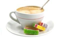 белизна marmalade кофейной чашки изолированная стоковое изображение