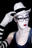 белизна mime шлема перчаток стекел Стоковые Изображения RF