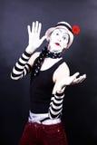белизна mime шлема цветка красная театралая Стоковые Изображения