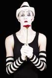 белизна mime шлема Стоковая Фотография