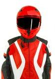 белизна motorbiker Стоковое Изображение RF