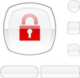 белизна padlock кнопки Стоковая Фотография RF