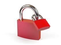 белизна padlock предпосылки иллюстрация штока
