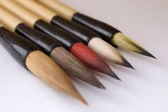 белизна paintbrush backg точная Стоковое Изображение