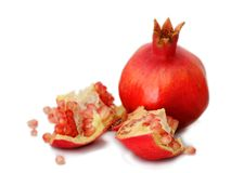 белизна pomegranate предпосылки Стоковое Фото