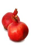 белизна pomegranates 2 предпосылки Стоковые Изображения RF
