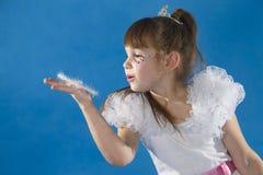 белизна princess девушки стоковое фото
