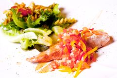 белизна salmon стейка предпосылки Стоковое Фото