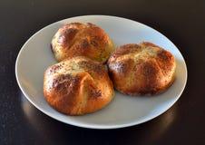 белизна shortbread маковых семенен плиты тортов Стоковые Изображения RF