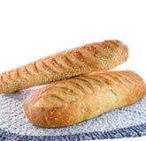 белизна sourdough хлеба предпосылки Стоковые Фотографии RF
