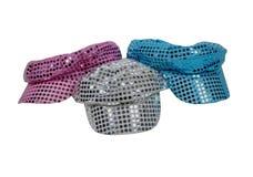 белизна sparkle голубых шлемов диско красная Стоковая Фотография