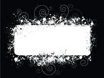 белизна splat grunge предпосылки черная Стоковое Изображение RF