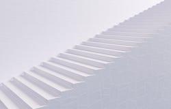 белизна stairway Стоковое фото RF