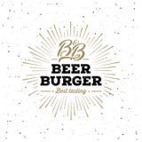 Белизна Starburst Grunge пива и бургера также вектор иллюстрации притяжки corel иллюстрация штока