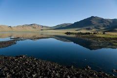 белизна terkhiin nuur Монголии большого озера tsagaan Стоковое Фото
