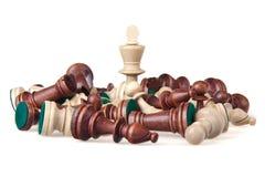 белизна triumphator короля шахмат Стоковая Фотография